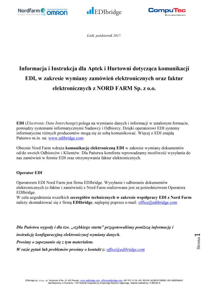 Informacja i Instr EDI dla Aptek i Hurtowni